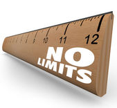 No Limits Words on Ruler Unlimited Potential — Stock Photo