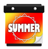 Summer Sun Page Wall Calendar Date Start New Season — Stock Photo