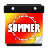 Summer Sun Page Wall Calendar Date Start New Season — Stock Photo