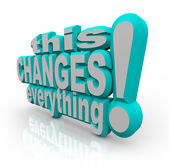 This Changes Everything Strategy Words to Improve and Evolve — 图库照片