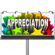 Appreciation Billboard Recognition of Good Work — 图库照片