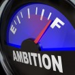 Fuel Gauge Ambition Measuring Enthusiasm - Stock Photo