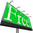 Stock Photo: Free Word Outdoor Advertising Billboard Complimentary No-Cost