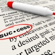 Stockfoto: Success Word Definition Meaning Circled in Dictionary