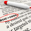 Success Word Definition Meaning Circled in Dictionary — Stock Photo