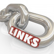 Links Metal Chains Connected Together Linked Connections — Stock Photo