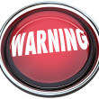 Warning Red Round Button Alarm Light Flashing - Stock Photo