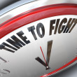 Royalty-Free Stock Photo: Time to Fight Clock Resistance Fighting for Rights