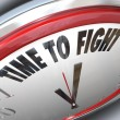 Time to Fight Clock Resistance Fighting for Rights — Stock Photo