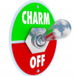 Turn on the Charm Toggle Switch Be Charismatic - Zdjęcie stockowe