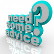 Need Some Advice Help Assistance 3D Words — Stok fotoğraf