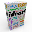 Ideas Product Box Innovative Brainstorm Concept Inspiration — Stock Photo