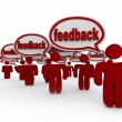 Feedback - Many Talking and Giving Opinions — Stockfoto
