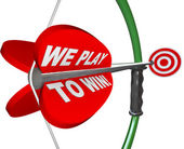 We Play to Win - Bow Arrow and Target Success Winning — Stock Photo