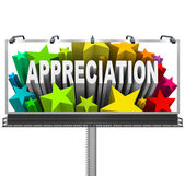 Appreciation Billboard Recognition of Good Work — Stock Photo
