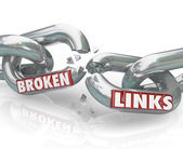 Broken Links Chain Separated Damaged Connections — Stock Photo