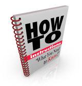 Instrukce kniha jak na to sami ruční — Stock fotografie