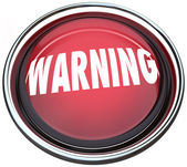 Warning Red Round Button Alarm Light Flashing — Stock Photo