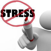 没有压力男人绘制斜线减轻压力大焦虑 — 图库照片