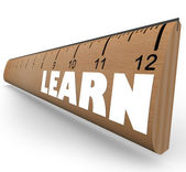 Learn Word on Ruler Measure Education Progress Growth — Stock Photo