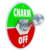 Turn on the Charm Toggle Switch Be Charismatic — Stock Photo