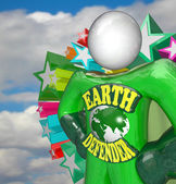 Earth Defender Super Hero Environmentalist Activist — Stok fotoğraf