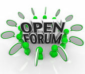 Open Forum Group of Discussing Talking Questions — Stock Photo