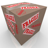 Fragile Cardboard Box Shipment Package Handle with Care — Stock Photo