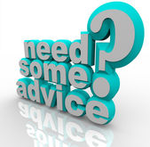 Potrzebujesz porady pomoc pomoc 3d słowa — Zdjęcie stockowe