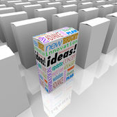 Many Boxes of Ideas - One Different Product Box Stands Out — Stock Photo