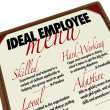 Ideal Employee Menu for Choosing Job Candidate — Foto Stock