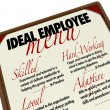 Ideal Employee Menu for Choosing Job Candidate - Stock Photo