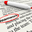 Stock Photo: Teamwork Dictionary Definition Word Circled