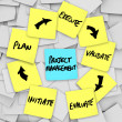 Project Management Workflow Diagram Plan Sticky Notes — Stock Photo