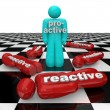 Proactive Person Wins Vs Reactive Inactivity Lose - Stockfoto