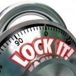 Lock It Combination Lock  Security Protection - Stock Photo