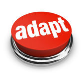 Adapt Word on Red Round Button for Instant Change — Stock Photo