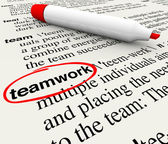 Teamwork Dictionary Definition Word Circled — Stock Photo