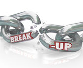 Break-Up Broken Links Chain Separation Divorce — Stock Photo