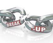 Break-Up Broken Links Chain Separation Divorce — Stock Photo