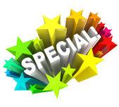 Mot spécial étoiles épargne unique vente événement — Photo