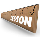Lesson Word on Ruler Teach Message Education — Stock Photo