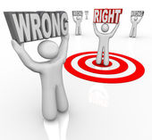 Right vs Wrong Person Choose Best in Crowd of — 图库照片