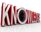 Knowledge Speedometer Word Learning is Power — Stock Photo