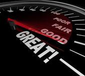 Grands mots sur l'examen de l'évaluation de performance indicateur de vitesse — Photo