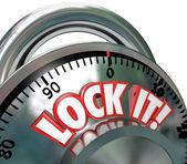 Lock It Combination Lock Security Protection — Stock Photo