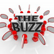 The Buzz Talking in Speech Bubbles Latest News — Stock Photo #9687121