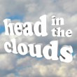 Head in the Clouds 3D Words in Cloudy Sky — Stock Photo #9687134