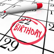 Royalty-Free Stock Photo: Birthday Calendar Day Circled Date Marker