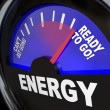 Energy Fuel Gauge Ready to Go — Stock Photo